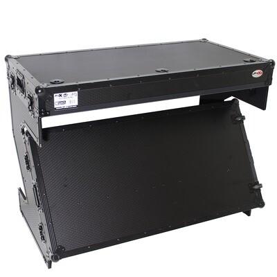 ProX DJ Z-Table MK2 Portable Z-Style DJ Table Flight Case with Handles & Wheels (Black on Black) #PRZTABLEBLM2 MFR #XS-ZTABLEBL MK2