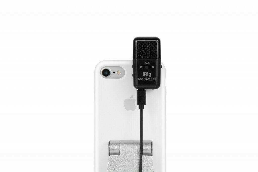 IK Multimedia iRig Mic Cast HD Multipattern USB Microphone for Mobile Devices #IKIRIGCASTHD MFR #IP-IRIG-CASTHD-IN