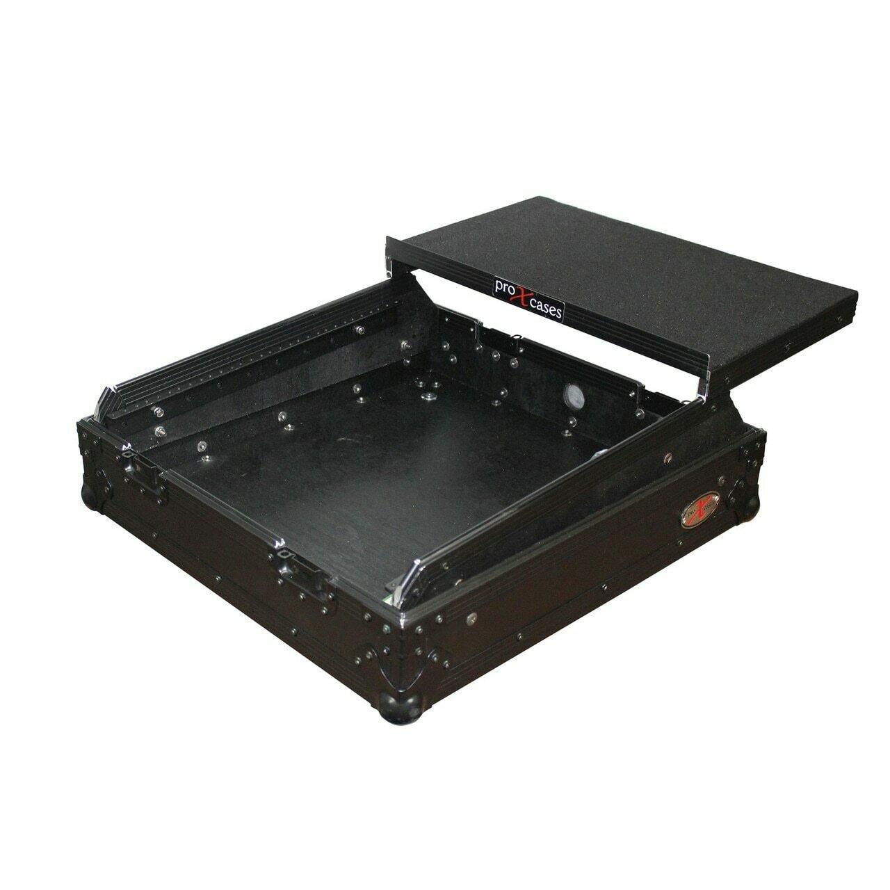 "ProX 19"" Slant Rackmount Case (10 RU, Black on Black) #PRXS19MIXLTB MFR #XS-19MIXLTBL"