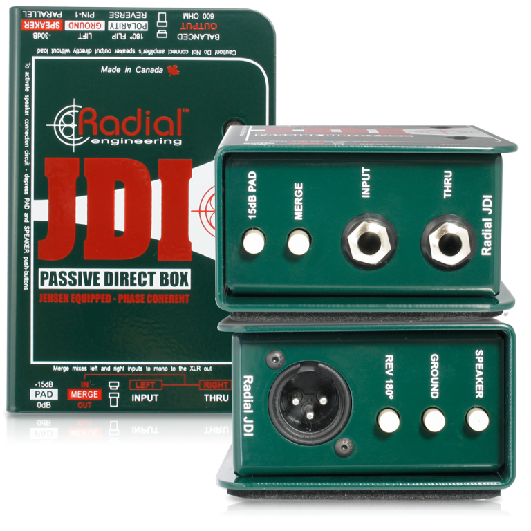 Radial Engineering JDI Mk3 - Professional Passive Direct Box with Jensen Transformer #RAJDI MFR #R800 1010