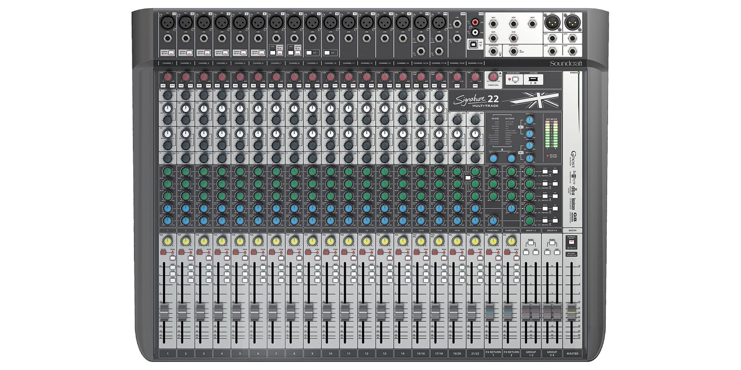 Soundcraft Signature 22 MTK 22-Input Multi-Track Mixer with Effects #SOS22MTKME MFR #5049563