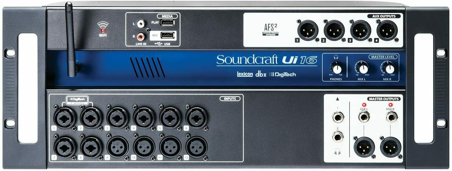 Soundcraft Ui16 16-Input Remote-Controlled Digital Mixer #SOUI16 MFR #5056219
