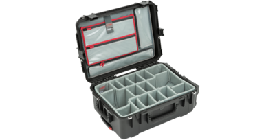 SKB iSeries 2215-8 Waterproof Utility Case with Wheels, Think Tank Photo Dividers, and Lid Organizer (Black) #SK3I22158DL MFR #3I-2215-8DL