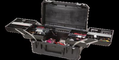 SKB iSeries 2011-7 Watertight Tech Box with Dual Trays (Black) #SK3I20117BTR MFR #3I-2011-7B-TR