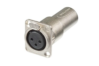 Neutrik NA3FDM XLR Female to Male Feedthrough Adapter for Panel Mount #NENA3FDM MFR #NA3FDM