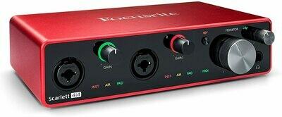 Focusrite Scarlett 4i4 4x4 USB Audio/MIDI Interface (3rd Generation)