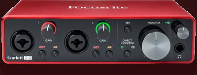 Focusrite Scarlett 2i2 2x2 USB Audio Interface (3rd Generation)