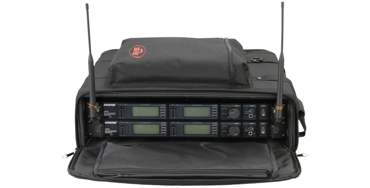 "SKB Audio Soft Rack (2U Rack Size, 20.75 x 17.5 x 6.5"", Black)  #SKSC192U  MFR #1SKB-SC192U"