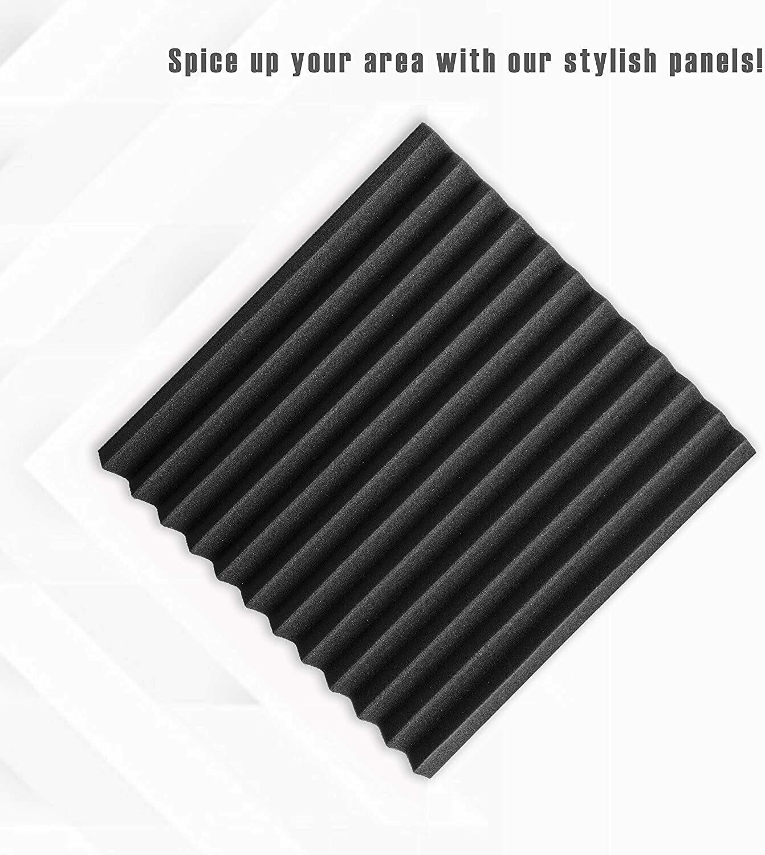 "Acoustic Foam Panels, 2"" X 12"" X 12"""