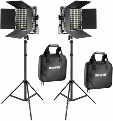 Neewer Bi-Color Video LED 2-Light Kit with Stands #NE90095562 MFR #90095562