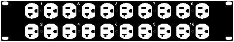 10 Circuit Edison Panel Assembly (Black)