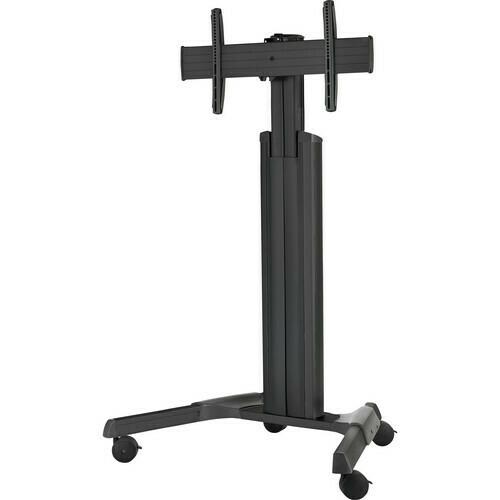 Chief LPAU Series Large Fusion Manual Height Adjustable Mobile AV Cart (Black)