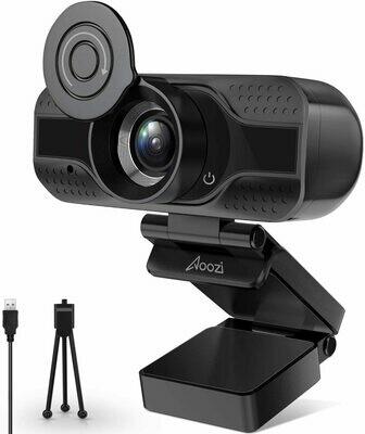 Aoozi Webcam with Microphone,1080P HD