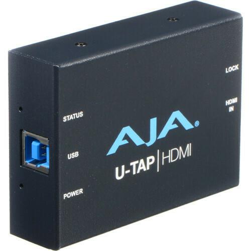 AJA U-TAP USB 3.0/3.1 Gen 1 Powered HDMI Capture Device #AJUTAPHDMI MFR #U-TAP-HDMI