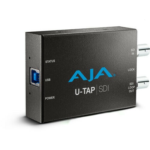AJA U-TAP USB 3.1 Gen 1 Powered SDI Capture Device #AJUTAPSDI MFR #U-TAP-SDI