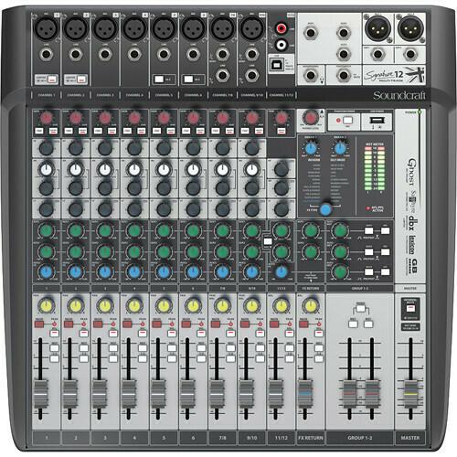 Soundcraft Signature 12 MTK 12-Input Multitrack Mixer with Effects #SOS12MTKMEMFR #5049557