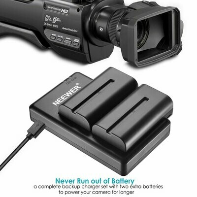 Neewer NP-F550 Battery Charger Set for Sony