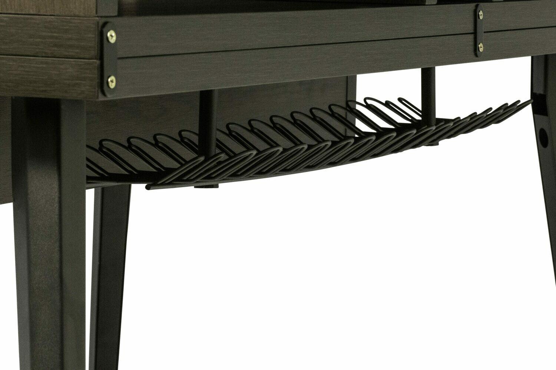 Gator Frameworks GFW-ELITEDESK-BRN Elite Series Main Desk - Dark Walnut