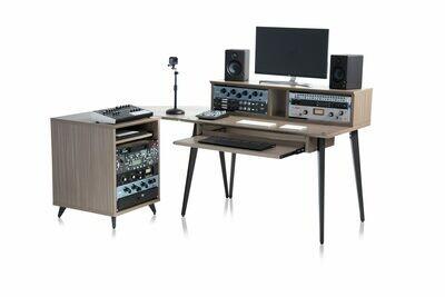 Gator Frameworks GFW-ELITEDESK-GRY Elite Series Main Desk - Driftwood Grey