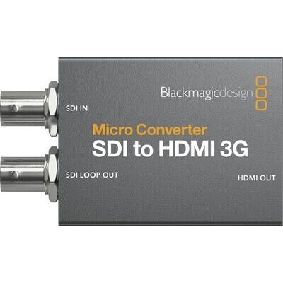 Blackmagic Design Micro Converter SDI to HDMI 3G (with Power Supply) #BLCMCSH3WPSU MFR #CONVCMIC/SH03G/WPSU