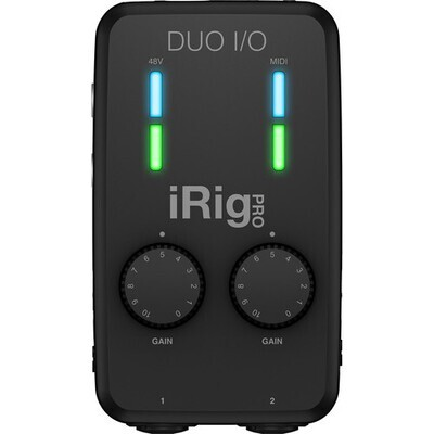 IK Multimedia iRig Pro Duo I/O 2-Channel Audio/MIDI Interface for Mobile Devices and Computers #IKIRIGPRODUOMFR #IP-IRIG-PRODUOIO-IN