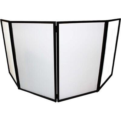 ProX Portable 4-Panel DJ Facade (Party Black Frame) #PRXXF4X3048B MFR #XF-4X3048B MK2