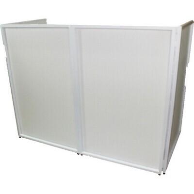 ProX Portable 4-Panel DJ Facade (White Frame) #PRXXF4X3048WMFR #XF-4X3048W MK2