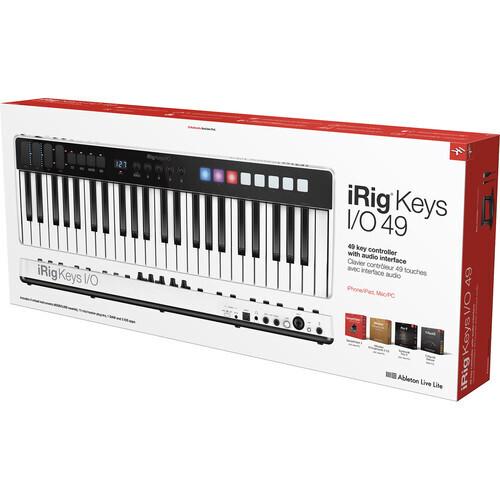 IK Multimedia iRig Keys I/O - Controller/Audio Interface for iPhone, iPad, and Mac/Windows (49-Keys) #IKIPIKIO49IN MFR #IP-IRIG-KEYSIO49-IN