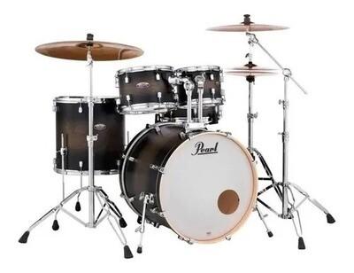 PEARLDMP925SP/C262   Pearl Decade DMP905P/C262 5 Piece Drum Shell Pack, Satin Blackburst,Fusion