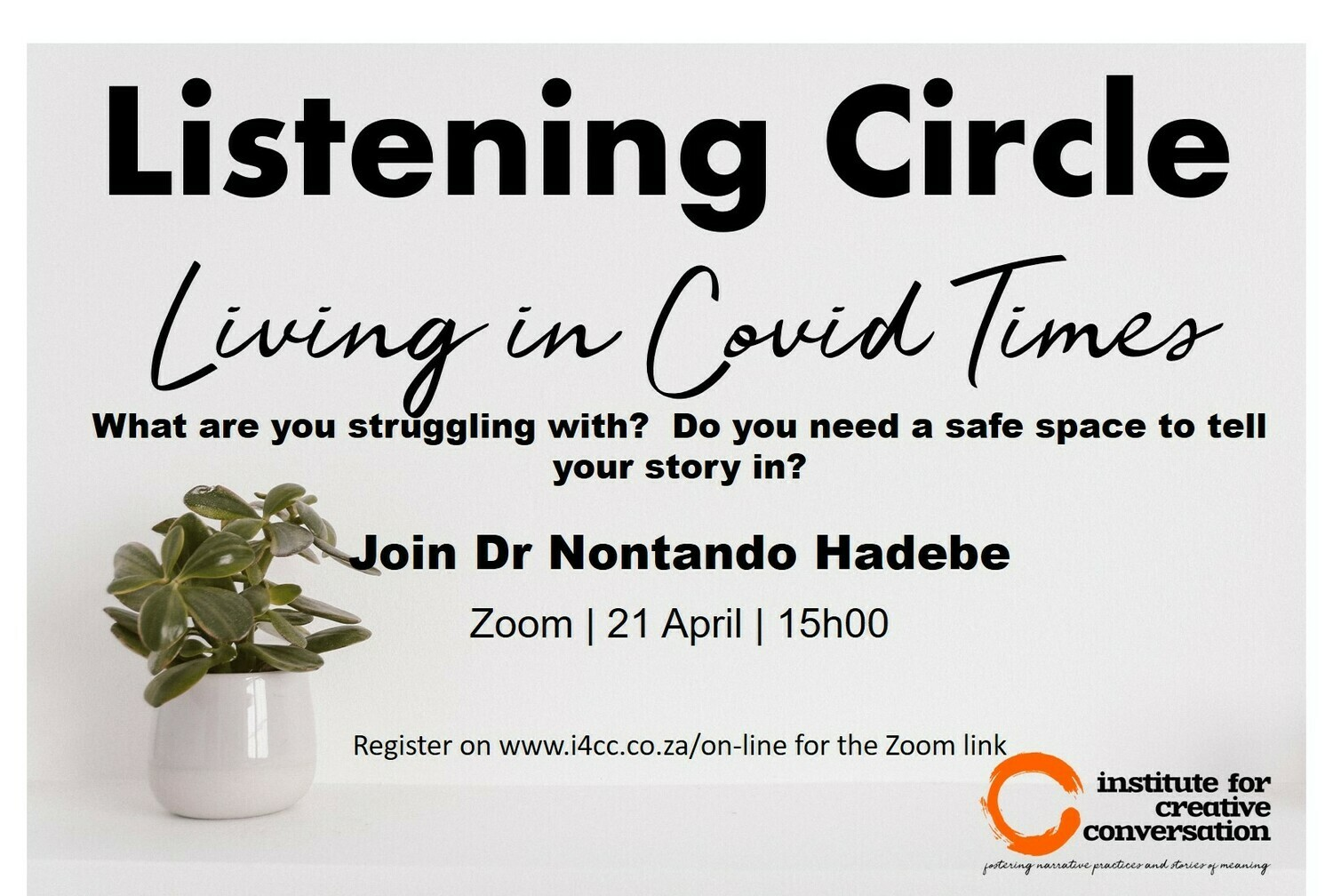 Listening Circle: Living in Covid Times