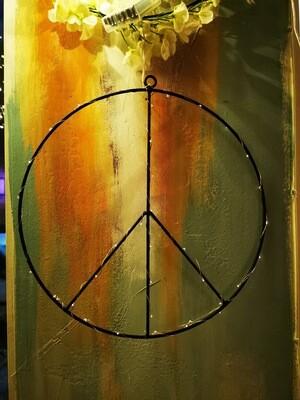 Peace med ljuslinga