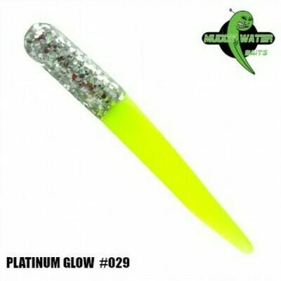 """2"""" Muddy Water Baits - Platinum & Glow - MW118"""
