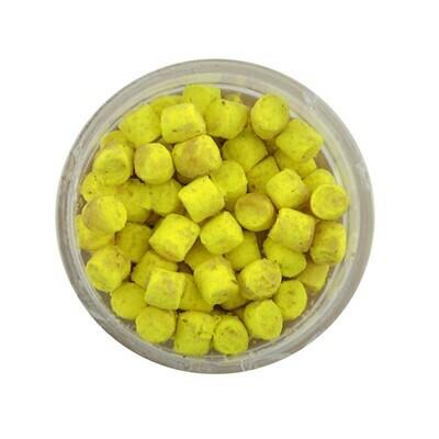Berkley Powerbait Crappie Nibbles - Glow Yellow  - BKCNGY