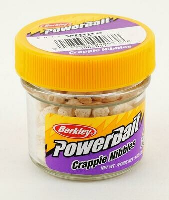Berkley PowerBait Crappie Nibbles - White  - BKCNW