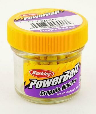 Berkley Powerbait Crappie Nibbles - Yellow  - BKCNPY