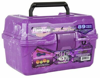 Flambeau Kid's Big Mouth Tackle Box - Purple Swirl - FL355BMT