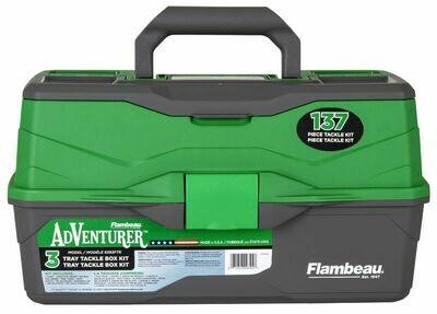 Flambeau 2-Tray 137-Piece Tackle Box Kit - FL6383TB