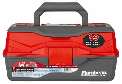 Flambeau Adventurer 1-Tray 89-Piece Tackle Box Kit - FL6381TB