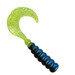 "2"" Hot Grub 50pk - Black Blue Chartreuse - SOHG-50-14"