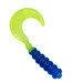 "2"" Hot Grub 50pk - Blue/Chartreuse - SOHG-50-17"