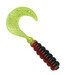 "2"" Hot Grub 50pk - Black Red Chartreuse Sparkle - SOHG-50-22"
