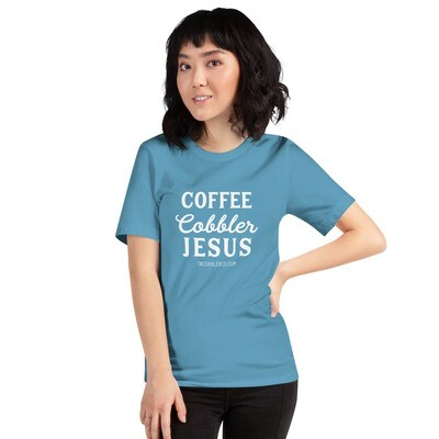 Coffee | Cobbler | Jesus | Adult T-Shirt