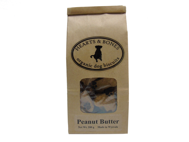 HEARTS AND BONES - Peanut Butter Organic Dog Biscuits