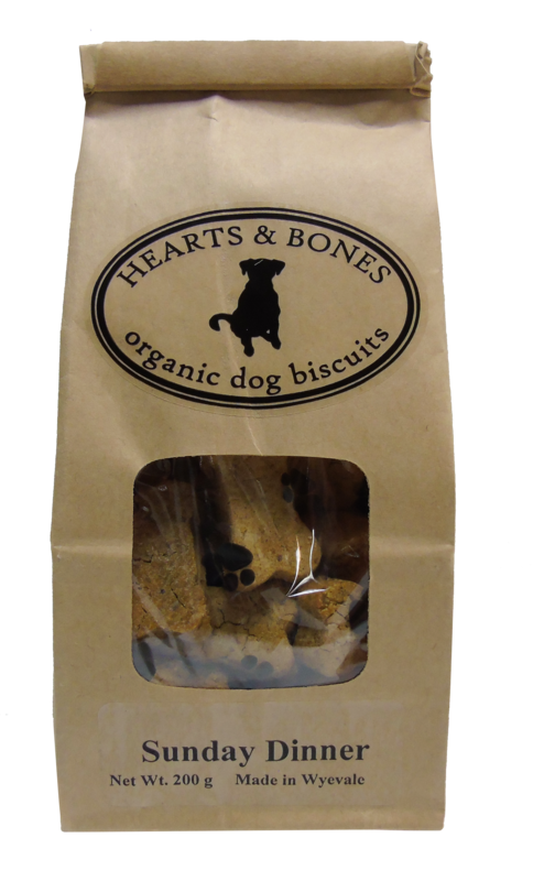 HEARTS AND BONES - Sunday Dinner Organic Dog Biscuits