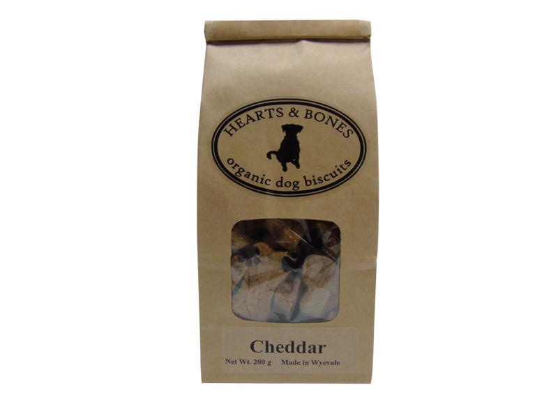 HEARTS AND BONES - Cheddar Organic Dog Biscuits