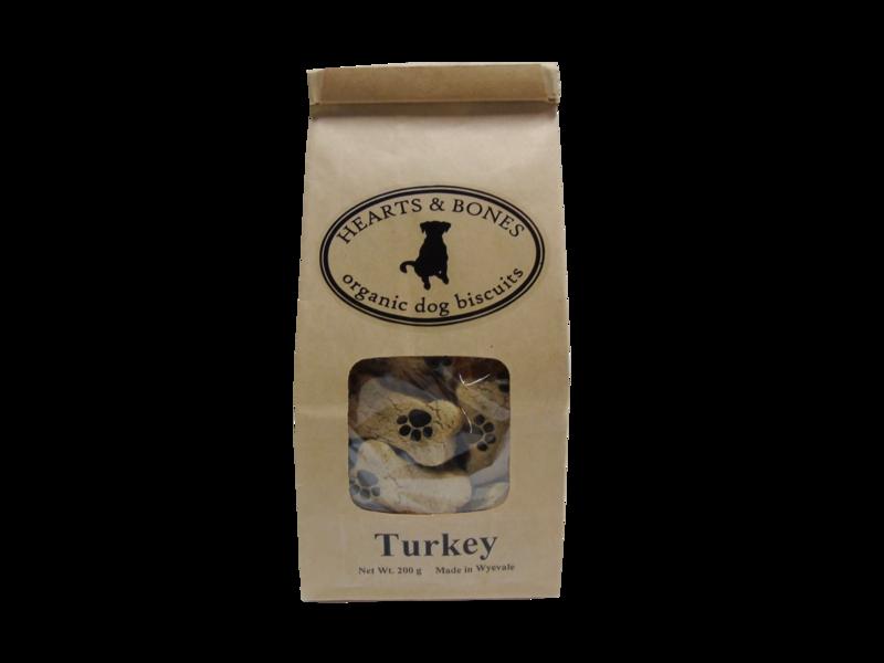 HEARTS AND BONES - Turkey Organic Dog Biscuits