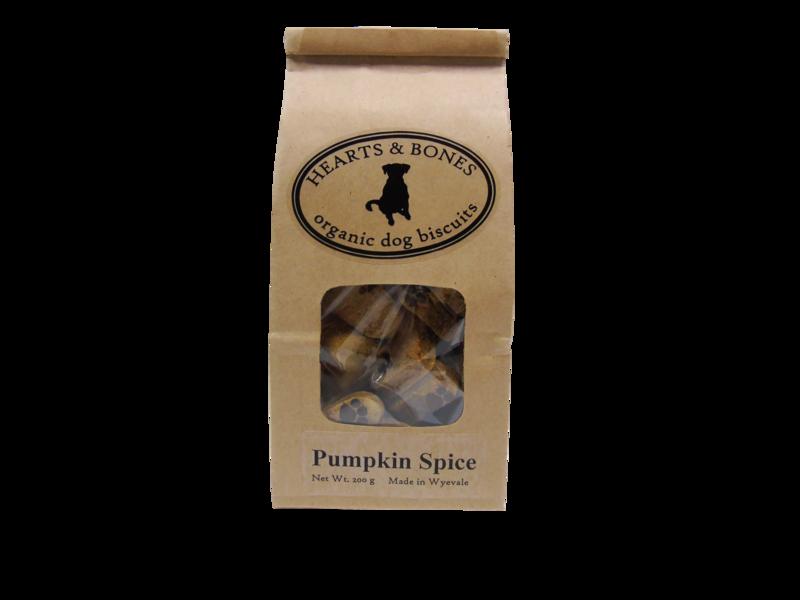 HEARTS AND BONES - Pumpkin Spice Organic Dog Biscuits