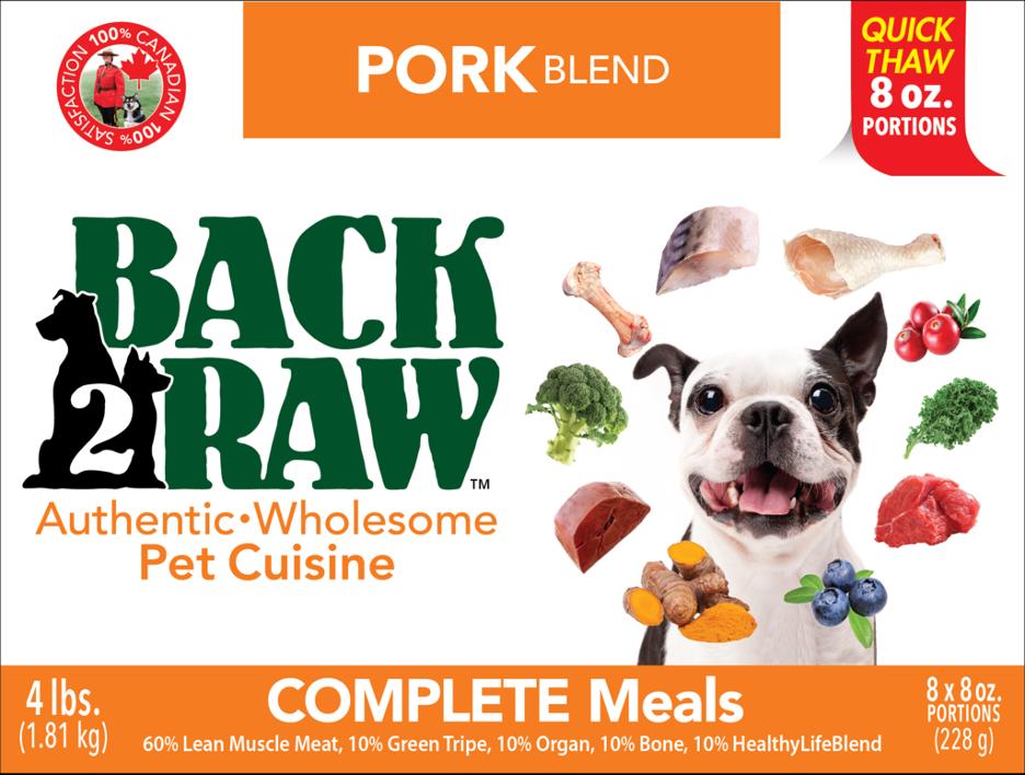 BACK 2 RAW -  Complete Pork Blend - 4LB