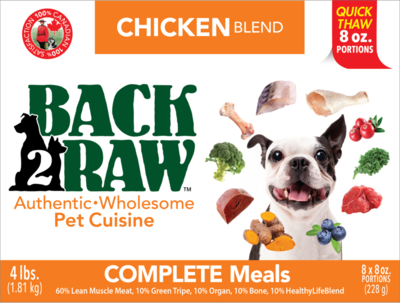 BACK 2 RAW -  Complete Chicken Blend - 4 LB