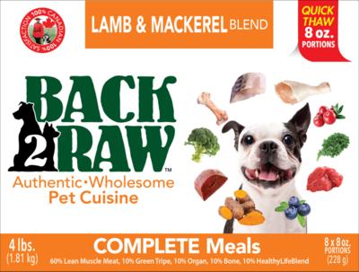 BACK 2 RAW - Complete Lamb & Mackerel Blend - 4 Lb